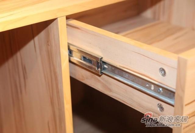 迈格家具 四门衣柜SA20SA 苹果木 灰-3
