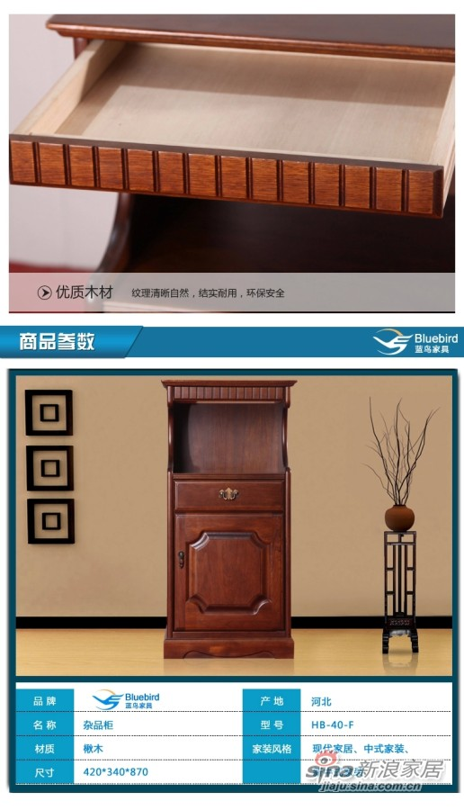 蓝鸟家具 杂品柜现代简约多功能收纳柜储物柜-3