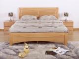 光明榉木双人床
