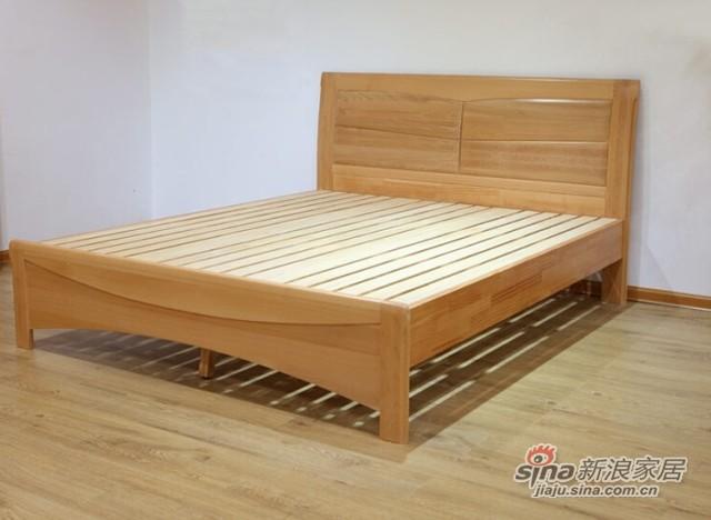 光明榉木双人床-3