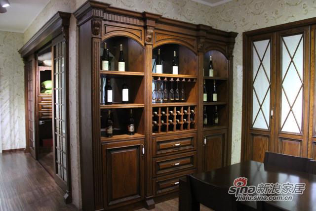 实木酒格柜