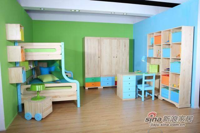 哥伦比尼儿童家具凯特系列双床房-1