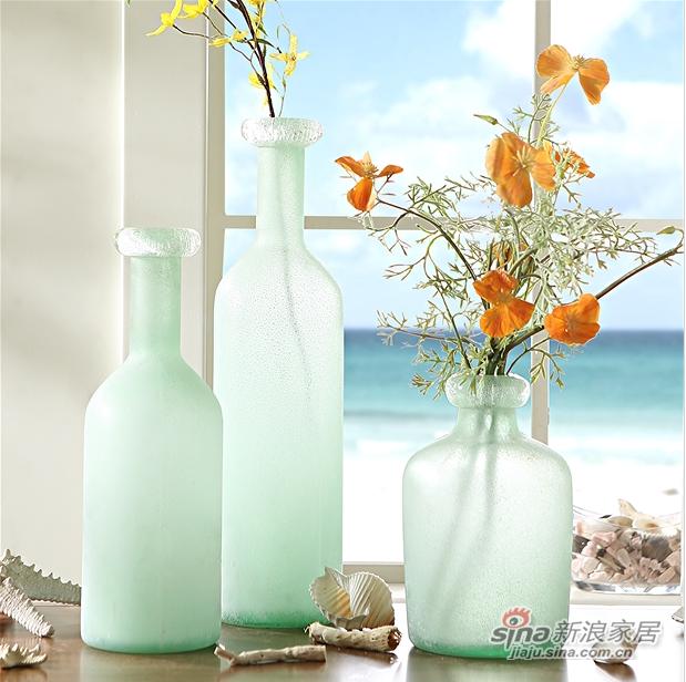 细口长颈磨砂玻璃花瓶-0