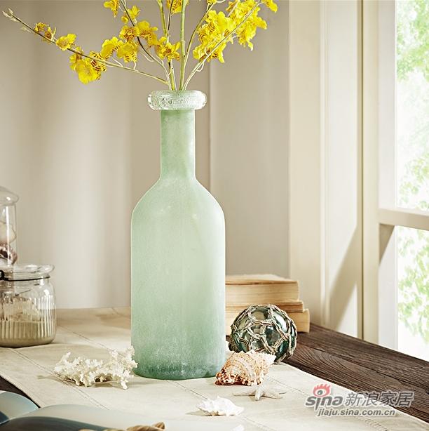 细口长颈磨砂玻璃花瓶-1