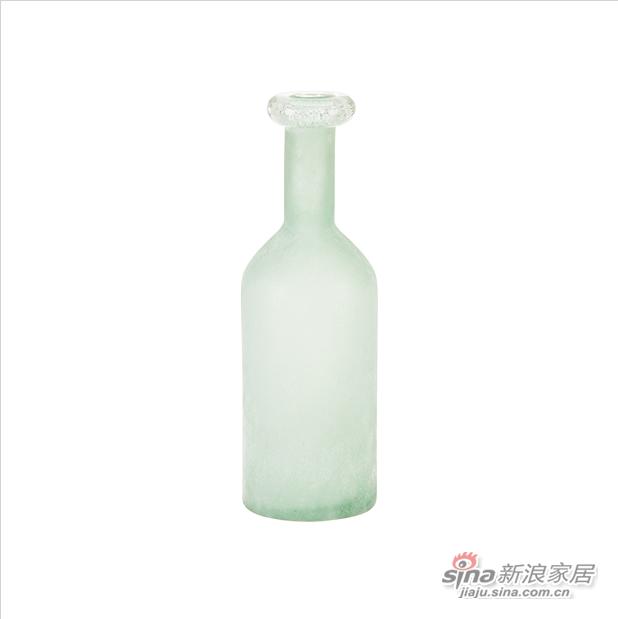 细口长颈磨砂玻璃花瓶-2
