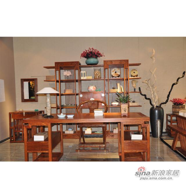 花梨木书桌K1506