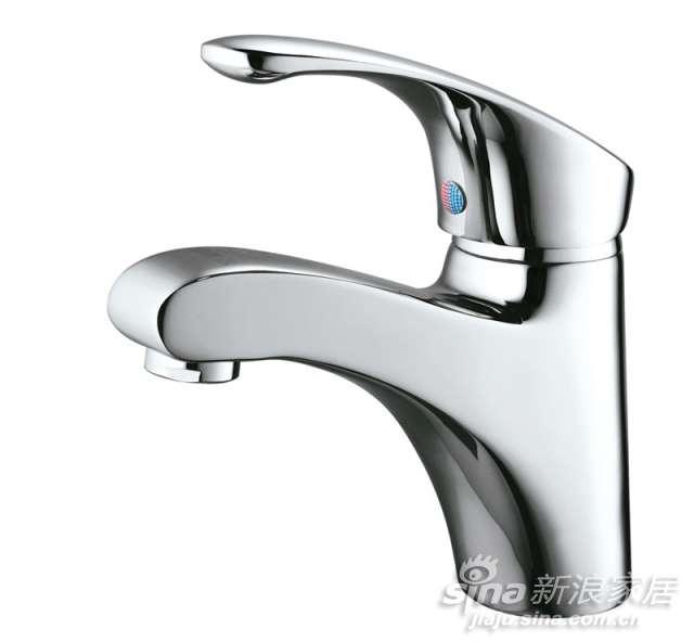申鹭达卫浴银龙戏水系列单把单孔面盆龙头-0