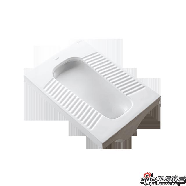 恒洁卫浴蹲便器H327D
