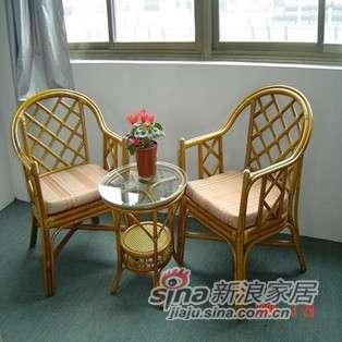 凰家御器藤椅藤家具三件套休闲椅阳台椅NH-A013-0