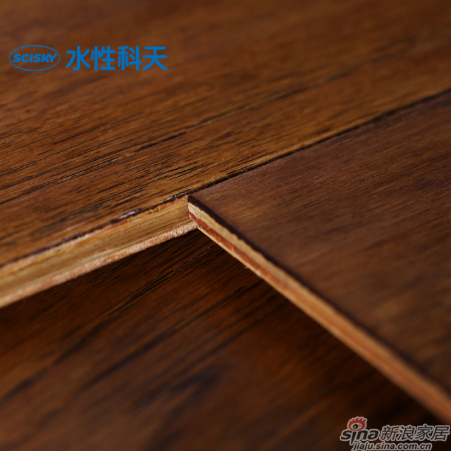 卡塞尔山核桃实木复合地板-4