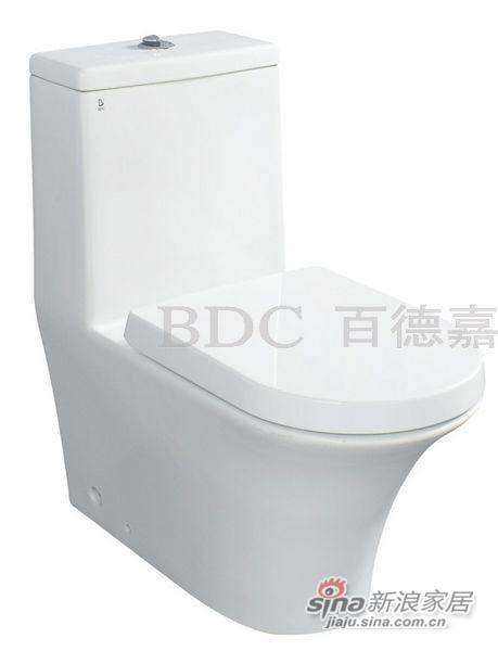 百德嘉陶瓷件连体座便器-H331104-0