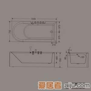惠达龙头浴缸HD13142