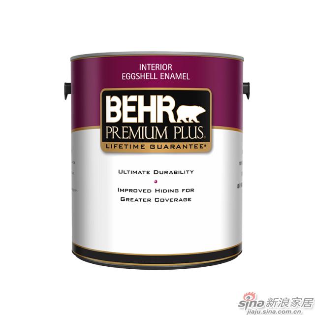 百色熊超级室内蛋壳光涂料 1加仑