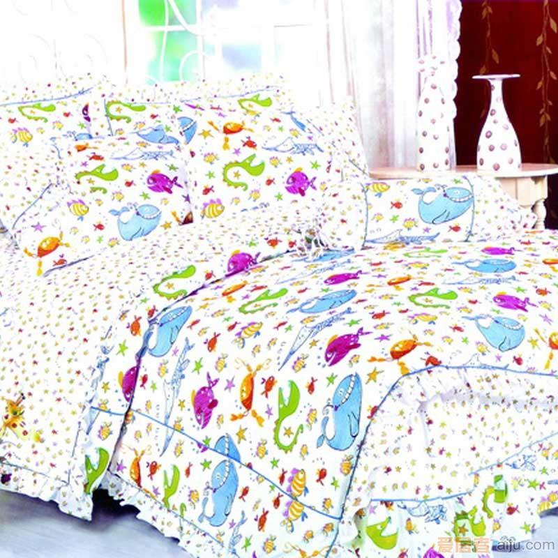 家元素床上用品-海底世界三件套(纯棉)TQ17000011