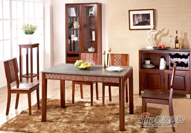 瑞森火烧石系列D180#餐桌椅-0