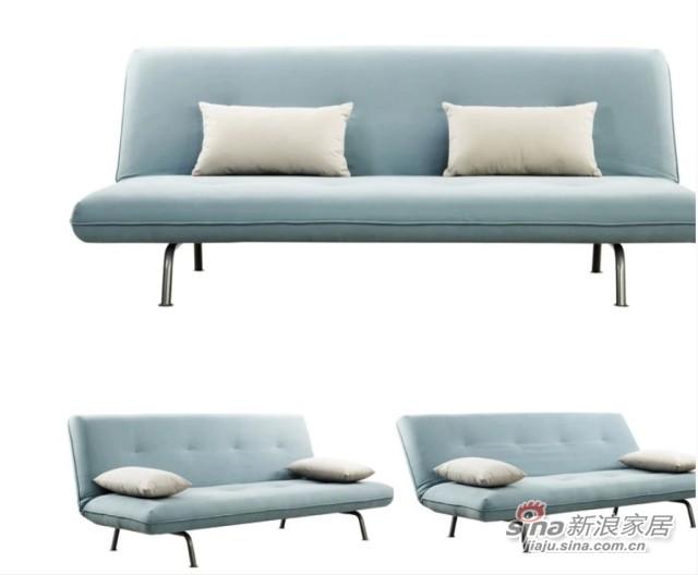 曲美折叠功能沙发床-0