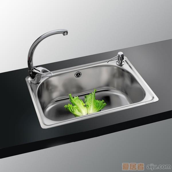 GORLDE优质不锈钢水槽/洗菜池 银莱茵系列1003FL(单盆)1