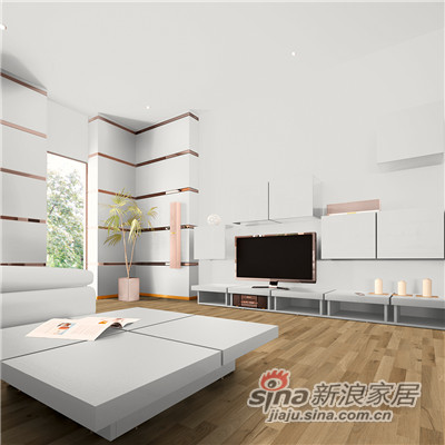 德合家ROOMS 强化地板R0811自然橡木