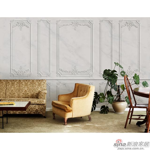 洛可可_贝壳形曲线雕刻石膏线墙面壁画欧式风格背景墙_JCC天洋墙布