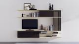 创意E字电视柜 客厅陈设书架