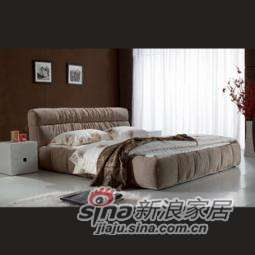 B&E佰宜家居 时尚软体家具 卧室 软包床 布艺床 SD614 (非定制)
