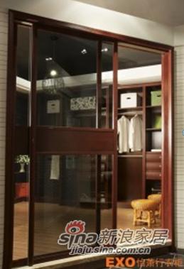 透明玻璃+皇家枣红平板腰带+