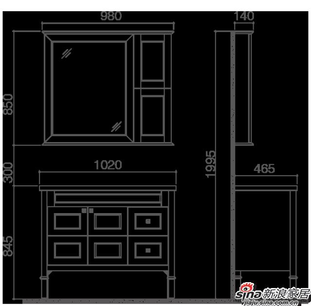 航标卫浴落地式浴室柜-2