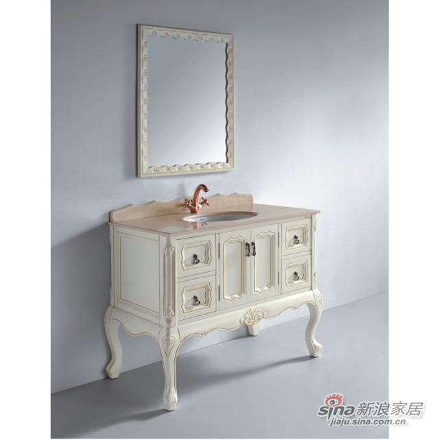 法恩莎卫浴实木浴室柜FPGM4606-D-0