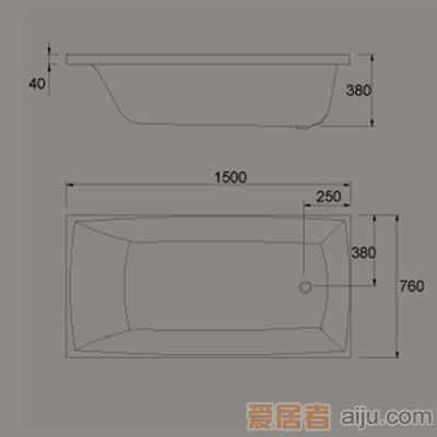 惠达-HD1306普通浴缸2