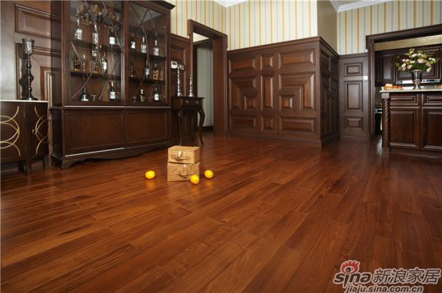 野生原木地板-柚木T2943P