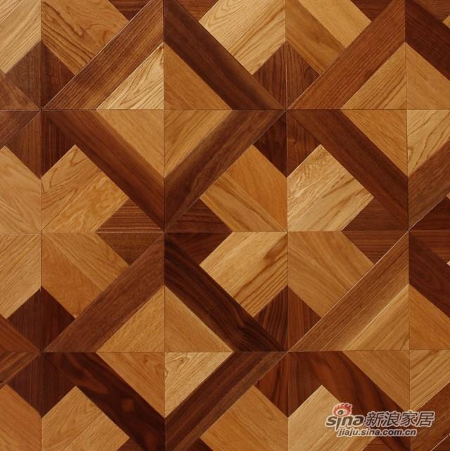 瑞澄地板--多层拼花系列--碳化栎木RCPH-0098-0