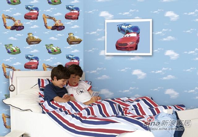 特普丽 儿童壁纸卡通汽车蓝天白云