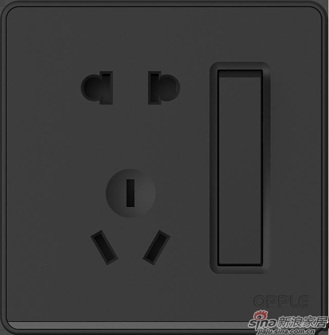 P07一开双+五孔黑色-0