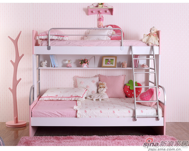 多喜爱(DUOXIAI) 多喜爱儿童床母子床 宝贝红-1