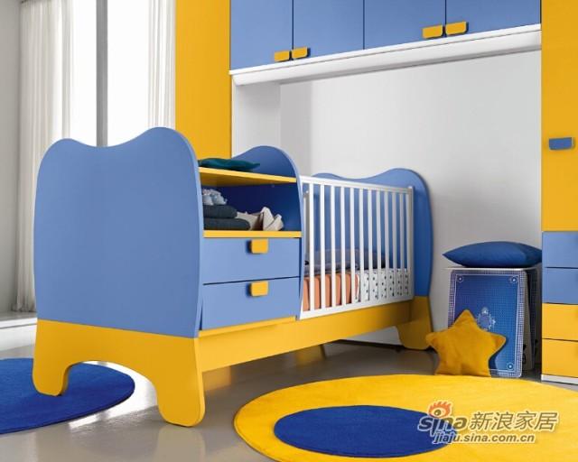 哥伦比尼儿童家具宝贝系列多功能床-2