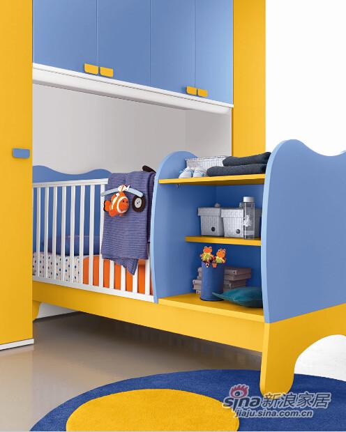 哥伦比尼儿童家具宝贝系列多功能床-3