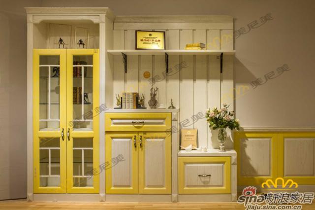 英伦印象(黄色款)-客厅展示柜