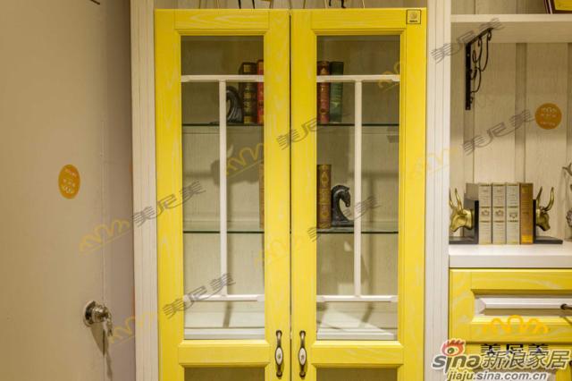 英伦印象(黄色款)-客厅展示柜-玻璃透明收纳细节