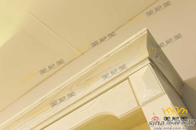 英伦印象(黄色款)-客厅展示柜-顶端边角细节