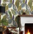 柔然壁纸 法国设计热带植物纯纸墙纸