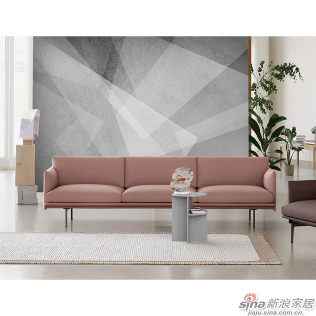 光影变奏_光影交织几何灰色壁画简欧风格背景墙_JCC天洋墙布