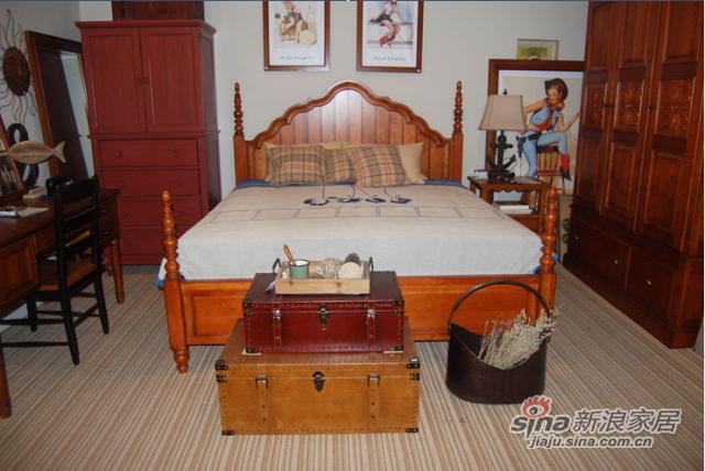 奶酪王国 W83秘密花园床 美式风格双人床