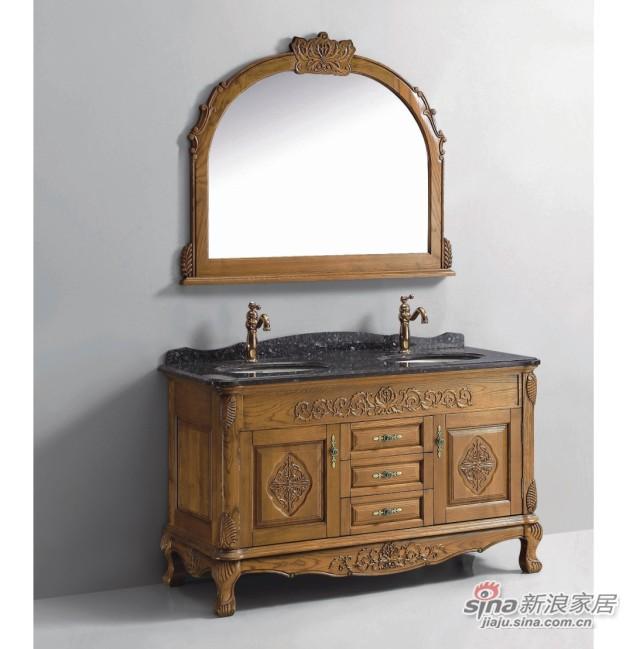 法恩莎卫浴实木浴室柜FPGM4626A-F-0