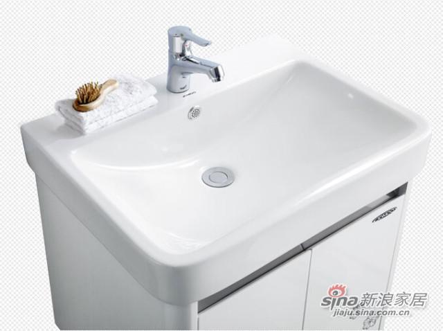 九牧 卫浴柜 洗脸盆悬挂浴室柜组合套餐-5