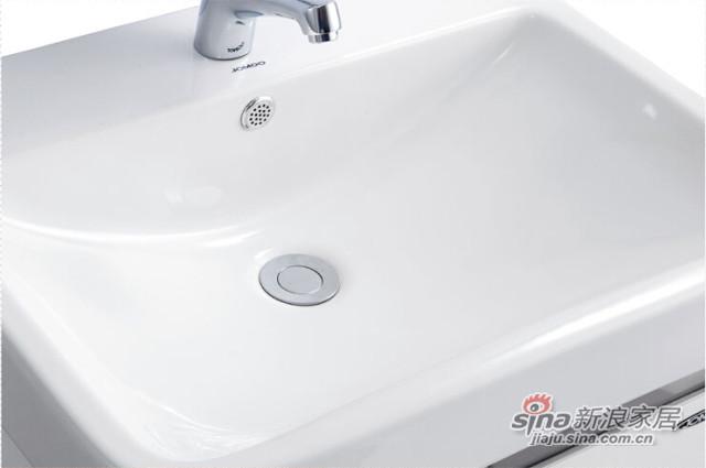 九牧 卫浴柜 洗脸盆悬挂浴室柜组合套餐-7