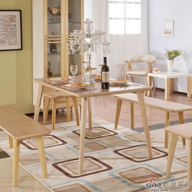 巨森家居北欧系列701餐边柜+餐桌凳
