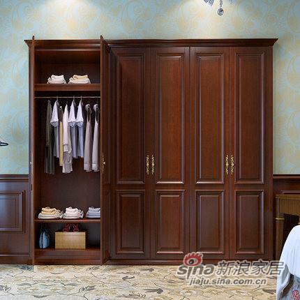 玛格经典茶色定制衣柜