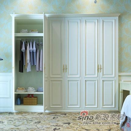 玛格经典茶色定制衣柜-1