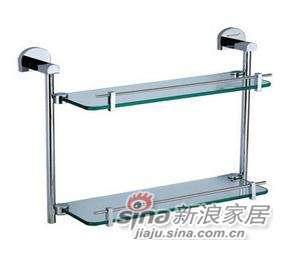 雅洁AT1123C-31双层玻璃架+铬-0