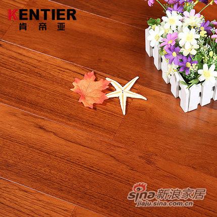 肯帝亚实木复合环保多层高端柚木地板